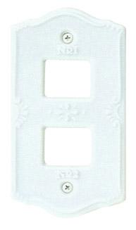新生活 3980円以上送料無料 送料無料カード決済可能 Essence スイッチプレート2穴 ポーセレン