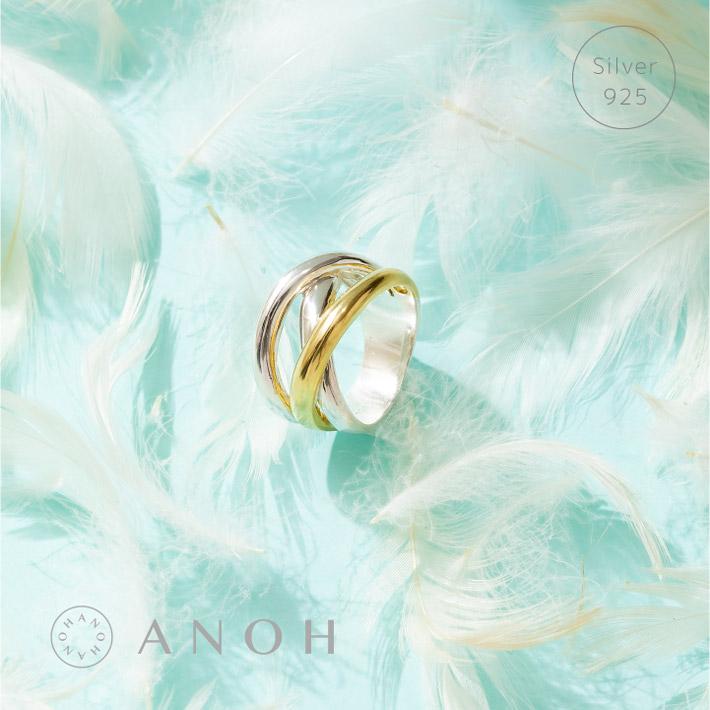 \12%OFFクーポン使える 評価 Silver925 トゥトーンクロス リング レディース 指輪 売却 シルバー シルバー925 アクセサリー ゴールド