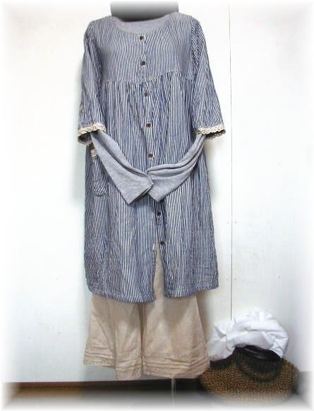 Book sale 10 days delivery sale! W gauze, Hickory, coat, dress and large size 2 L-5 L
