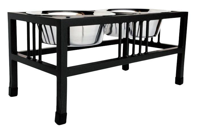 ペット用フードスタンド バロンダブルダイナー ブラック Large テーブル 台 父の日