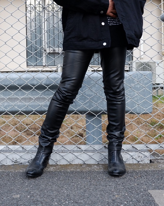 公式ストア ys Yuji SUGENO Synthetic 送料0円 Leather Skinny PT レザーパンツ レザースキニー フェイクレザー スキニー