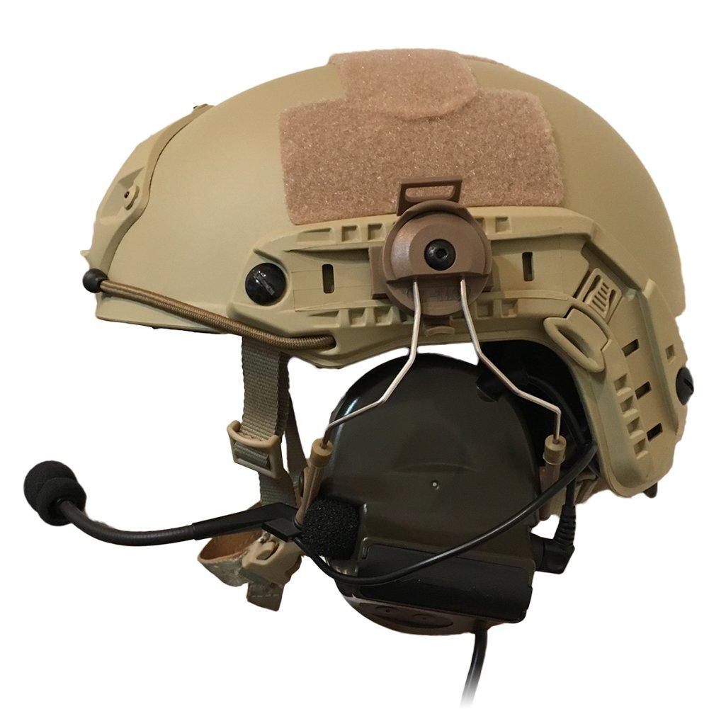 【3点セット】 ZTAC Comtac II ヘッドセット ver2.0(FG) OPS-CORE STANDARD タクティカルヘルメット ARCレールアダプター (DE) サバゲー 装備 ZTACTICAL Z-TAC コムタック 2 サバイバルゲーム ヘルメット トランシーバー 無線機