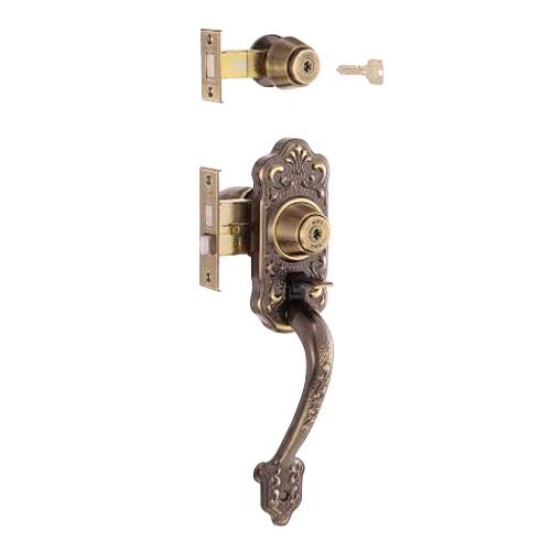 朝日工業 Kシリーズ MIWA交換用特殊錠 M-49 [玄関][Y.K.K.・バックセット:64mm・フロント記号:TESP(補助錠)、HBZSP(本錠)]※ご好評につき廃番となりました。