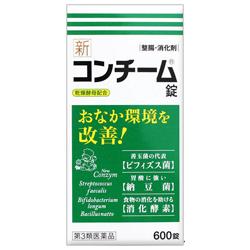 【第3類医薬品】【送料無料の4個セット】【日邦薬品】新コンチーム錠 600錠