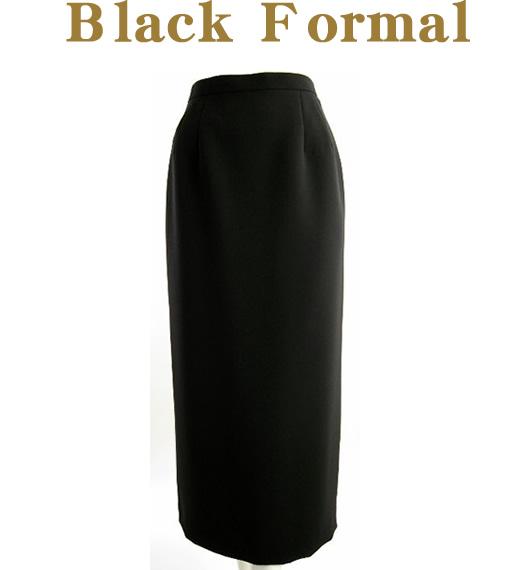 送料無料 !■【ブラックフォーマル】■スタイリッシュなロングタイトスカート【9号~17号】(10-80011)