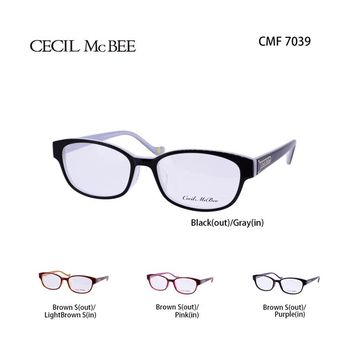 メガネ 度付き レディース セシルマクビー 眼鏡 CMF-7039 レディース ウェリントン 度なし 伊達メガネ CECIL McBEE サイズ:51 国内正規品 かわいい おしゃれ