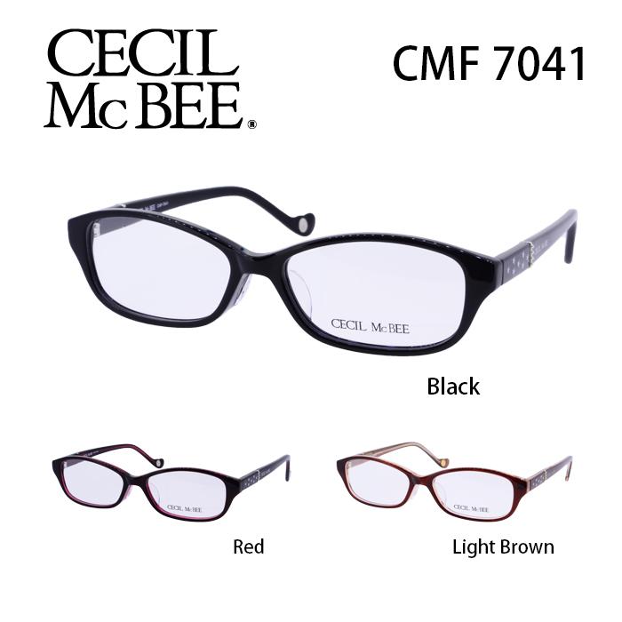 メガネ 度付き レディース セシルマクビー 眼鏡 CMF-7041 レディース ウェリントン 度なし 伊達メガネ CECIL McBEE サイズ:52 国内正規品 かわいい おしゃれ