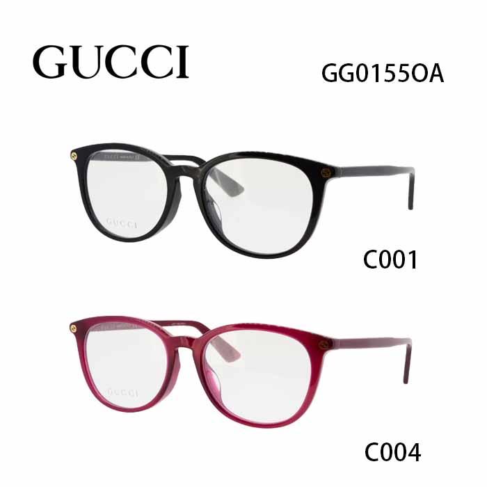 グッチ メガネフレーム GUCCI GG0155OA 男女兼用 ボストン 眼鏡 度付き 度なし 伊達メガネ サイズ:52 国内正規品 かわいい おしゃれ 送料無料