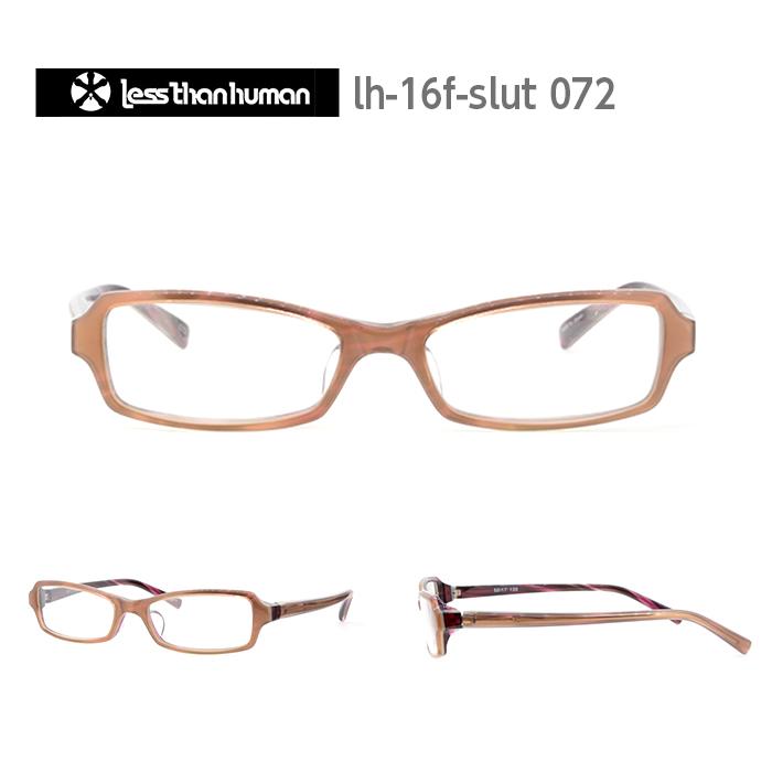 レスザンヒューマン めがね 眼鏡 SLUT=S.cum メンズ レディース スクエア メガネ フレーム 度付き 度なし 伊達メガネ サイズ:52 Less Than human 国内正規品 かわいい おしゃれ