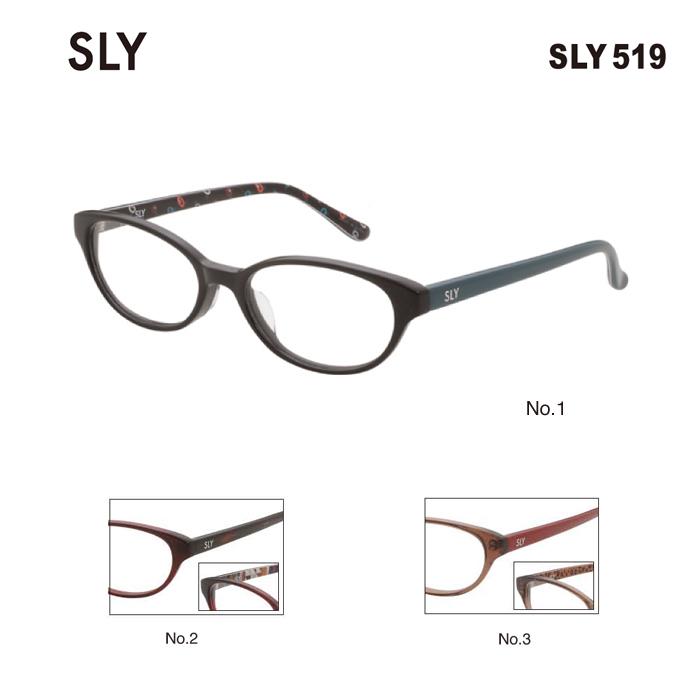 メガネ 度付き レディース スライ めがね 眼鏡 SLY SLY519 レディース ウェリントン メガネフレーム 度なし 伊達メガネ サイズ:51 国内正規品 かわいい おしゃれ