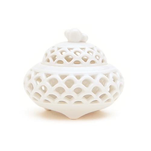 【香炉】【日本香堂】白磁 静海波【陶器製】kouzarakoutate【送料無料】【スーパーセール 10倍】