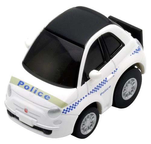 Choro Q Zero Fiat 500 C Police Car Australia