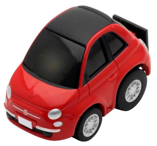 Choro Q Zero Fiat 500 C Red