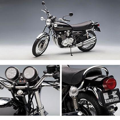 오토 아트1/6카와사키900 Z1슈퍼 4 블랙 버전