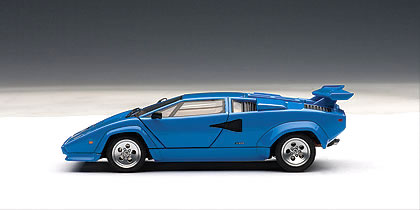 car hobby shop answer rakuten global market autoart 1 43 lamborghini countach 5000s blue. Black Bedroom Furniture Sets. Home Design Ideas