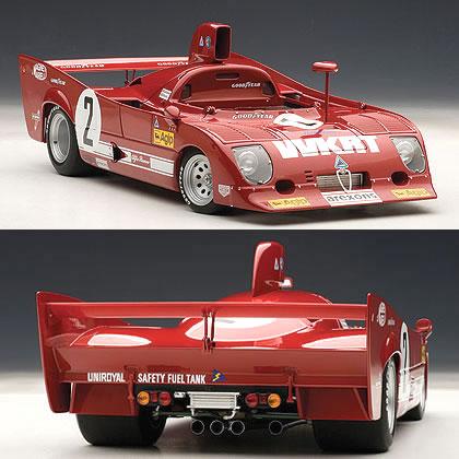 オートアート 1/18 アルファロメオ 33 TT 12 No.2 モンツァ1000km優勝車 1975 (メルツァリオ/ラフィット)