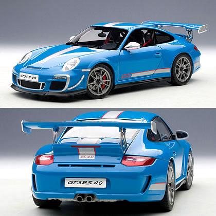 オートアート 1/18 ポルシェ 911 (997) GT3RS 4.0 ブルー