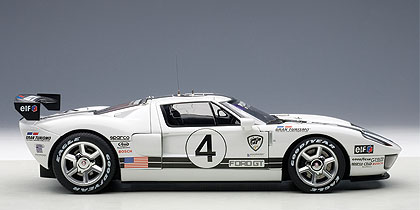 Autoart   Ford Gt Lm Race Car Spec Ii White