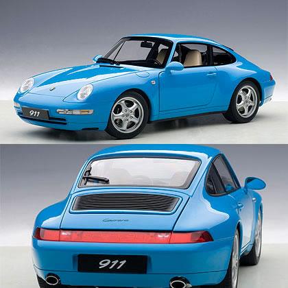 オートアート 1/18 ポルシェ 911 (993) カレラ 1995 ブルー