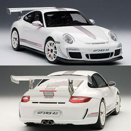 オートアート 1/18 ポルシェ 911 (997) GT3RS 4.0 ホワイト