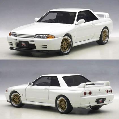 オートアート 1/18 日産 スカイライン GT-R (R32) VスペックII チューンド・バージョン ホワイト