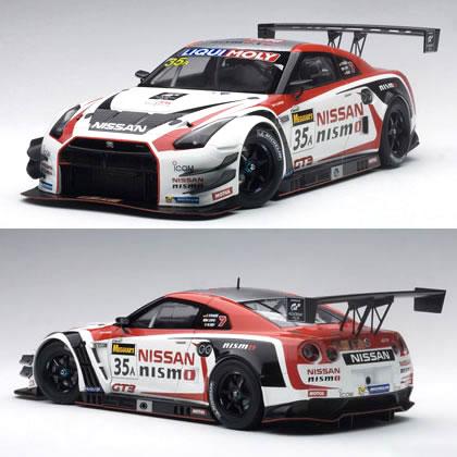 オートアート 1/18 日産 GT-R NISMO GT3 No.35A バサースト 12時間レース優勝車 2015