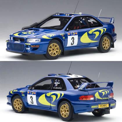 オートアート 1/18 スバル インプレッサ WRC No.3 サファリ優勝車 1997 (マクレー/グリスト)