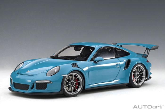 オートアート 1/18 ポルシェ 911 (991) GT3 RS スカイブルー