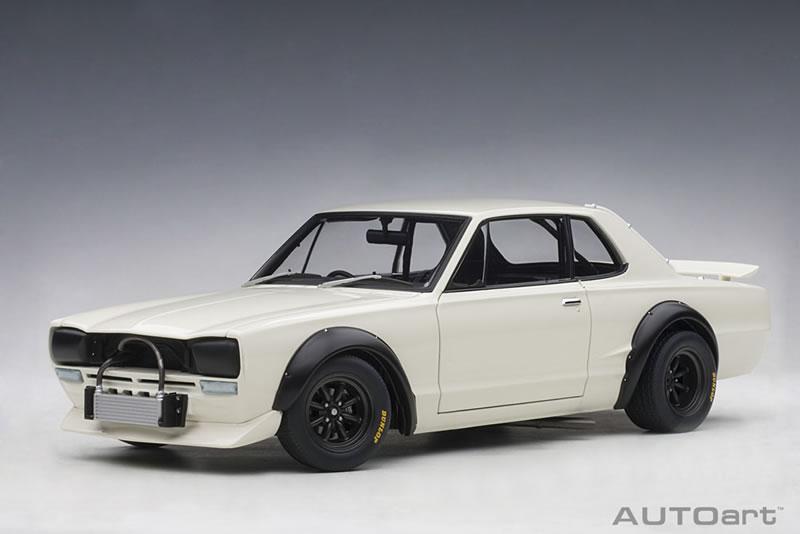 オートアート 1/18 日産 スカイライン GT-R (KPGC10) レーシング 1972 ホワイト