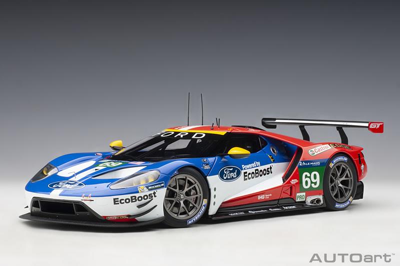 オートアート 1/18 フォード GT No.69 ル・マン 24時間レース LMGTE Proクラス3位 2016
