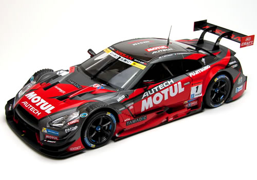 エブロ 1/18 スーパーGT 2015 MOTUL AUTECH GT-R Champion Car No.1 ※スペシャルパッケージ (アクリルカバー付)