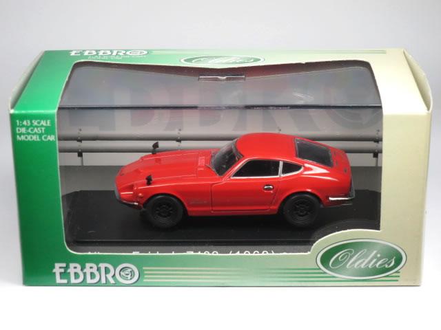 【絶版品】エブロ 1/43 日産 フェアレディ Z432 1969 レッド