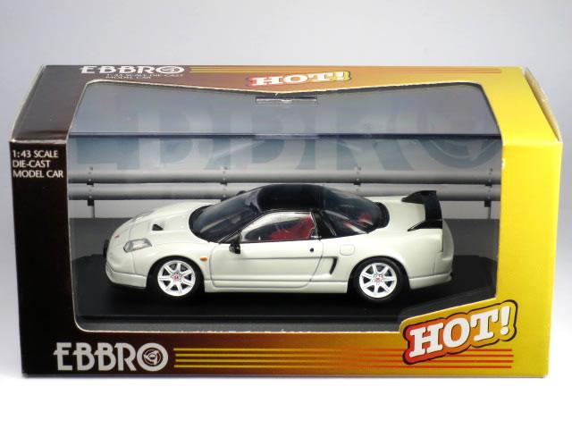 【絶版品】エブロ 1/43 ホンダ NSX タイプ R 2002 ホワイト