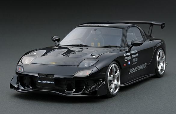 ignition model 1/18 マツダ RX-7 (FD3S) RE雨宮 ブラック (ENKEI RP03ホイール)