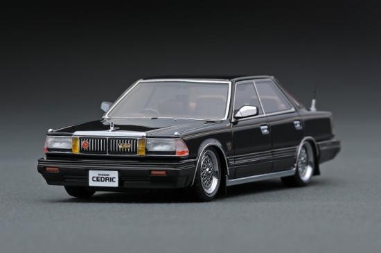 ignition model 1/43 日産 セドリック (Y30) Brougham VIP 後期型 ブラック (BBS RSホイール)