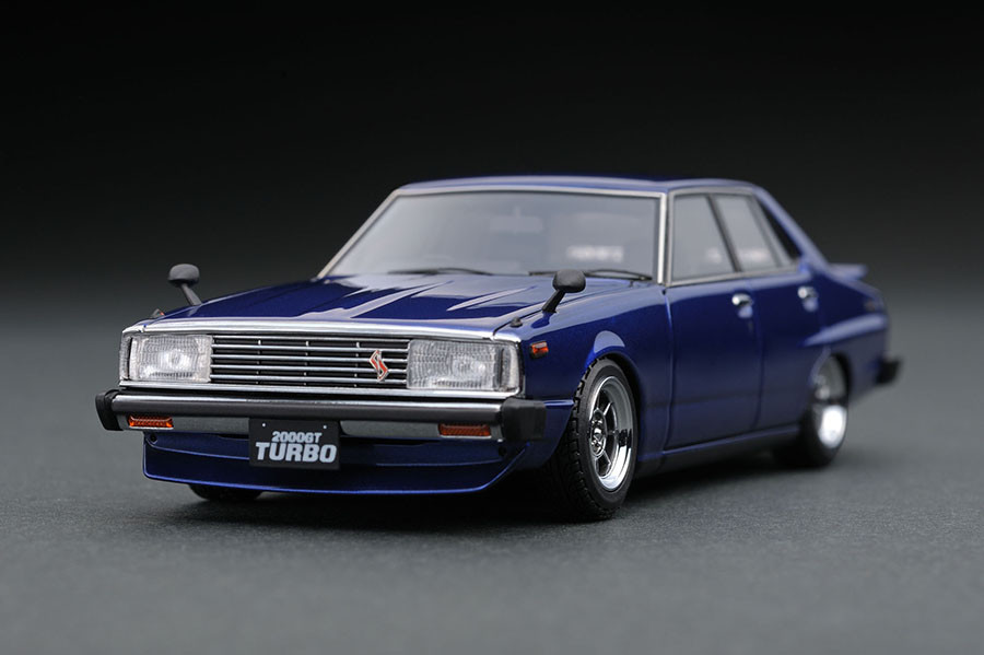 ignition model 1/43 日産 スカイライン 2000 GT-EL (C211) ブルー (ハヤシストリートホイール)