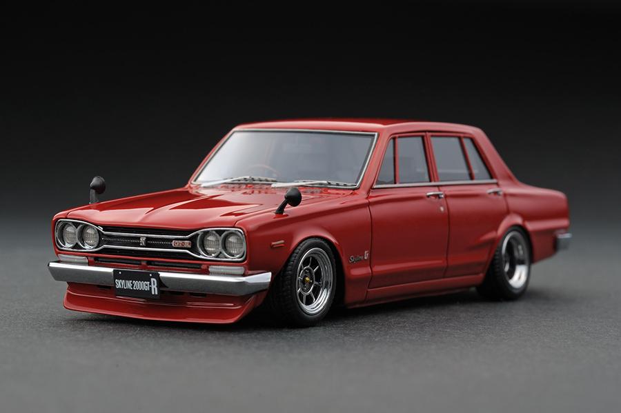 ignition model 1/43 日産 スカイライン 2000 GT-R (PGC10) 1970 レッド (ハヤシホイール)