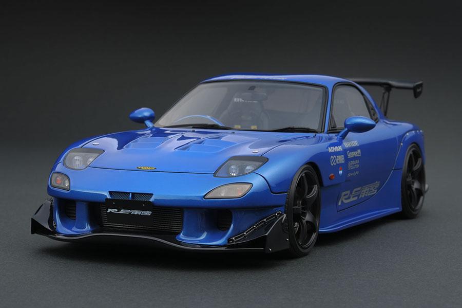 ignition model 1/18 マツダ RX-7 (FD3S) RE雨宮 メタリックブルー (ENKEI RP03ホイール)