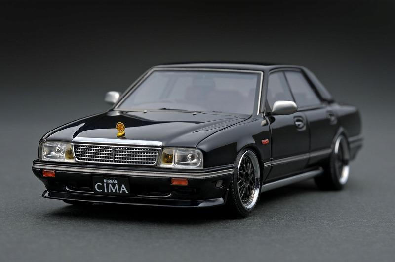 ignition model 1/43 日産 グロリア シーマ Y31 ブラック (BBS LMホイール)