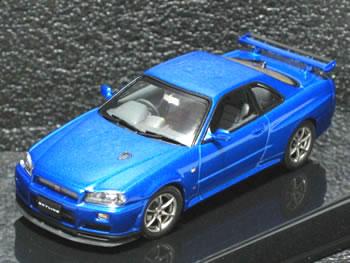 【絶版品】オートアート 1/43 スカイライン R34 GT-R Vスペック II ベイサイドブルー