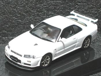 【絶版品】オートアート 1/43 スカイライン R34 GT-R Vスペック II ホワイト