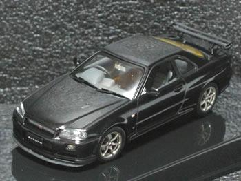 【絶版品】オートアート 1/43 スカイライン R34 GT-R Vスペック II ブラックパール