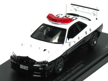 【絶版品】レイズ 1/43 スカイライン R34 GT-R VスペックII パトカー 2002 埼玉県警察 高速道路交通警察隊車両 【805】