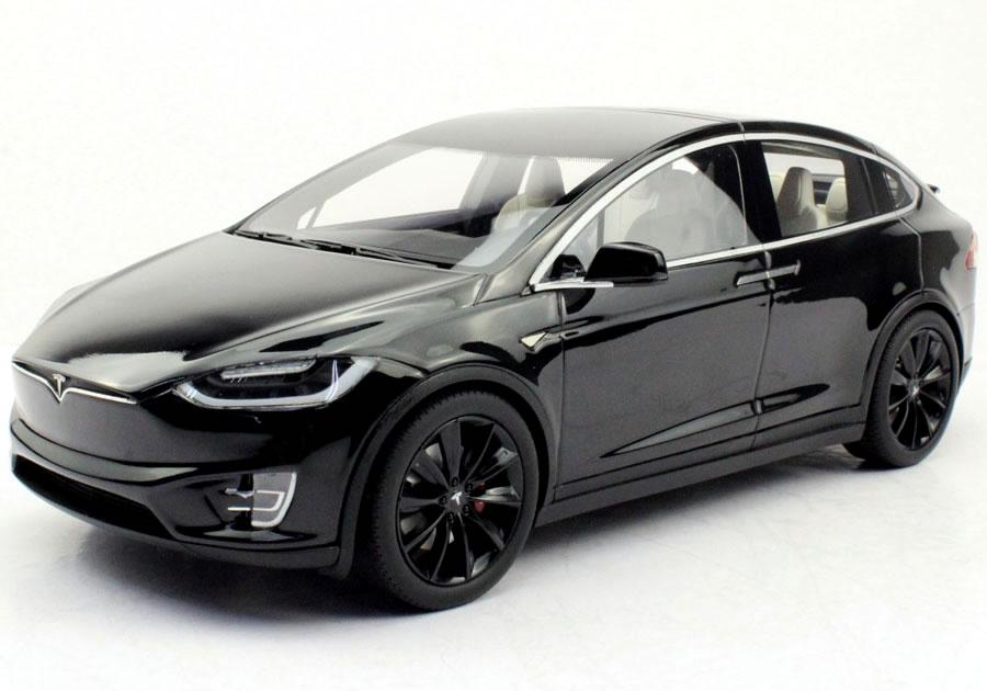 TOPMARQUES 1/18 テスラ モデル X 2016 ブラック (ブラックホイール)