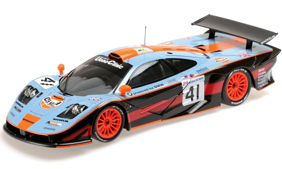 ミニチャンプス 1/18 McLaren F1 GTR Gulf Team No.41 24h LeMans 1997
