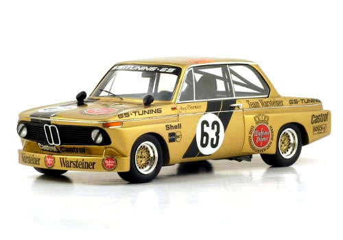Spark 1/18 BMW 2002 No.63 Winner Div.II DRM Norisring 1975 Jorg Obermoser