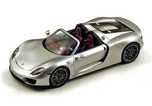 Spark 1/18 Porsche 918 Spyder (Open Roof) 2014 シルバー