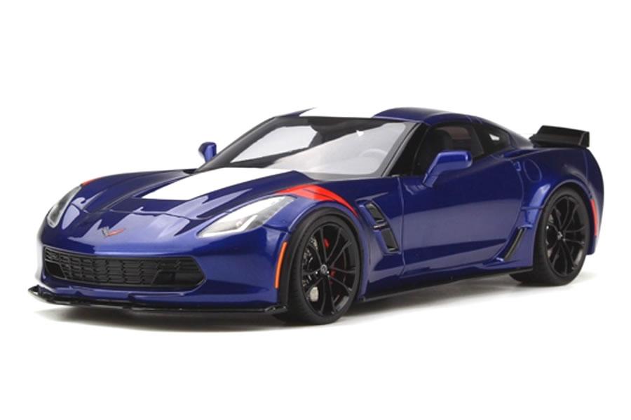 GT SPIRIT 1/18 シボレー コルベット グランスポーツ ブルー (レッドストライプ)