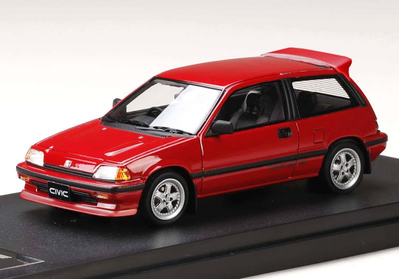MARK43 1/43 Honda Civic Si (AT) 1984 (Wonder Civic) red (infinite MR-5  wheel)