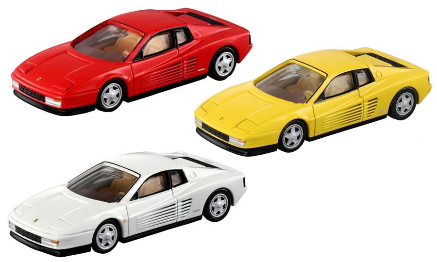 トミカプレミアム 06 フェラーリ テスタロッサ (通常版 レッド+発売記念仕様 ホワイト+タカラトミーモールオリジナル イエロー) 3台セット